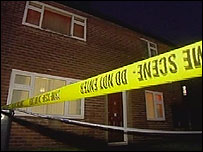 The scene of the stabbing