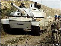 French troops with the United Nations Interim Forces in Lebanon