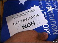 French No ballot slip for EU constitution referendum