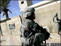 US troops patrol Baghdad