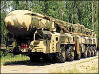 Russian Topol long-rang missile