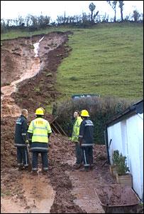 Mudslide in Brecon
