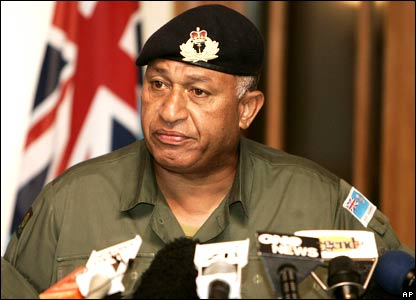 Fiji's military commander Frank Bainimarama announces he has taken control of the country.