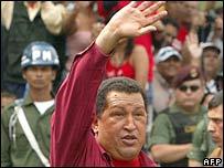 Hugo Chavez on election day