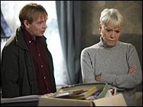 Adam Woodyatt and Wendy Richard in EastEnders
