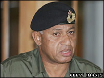 Fiji's Commodore Frank Bainimarama
