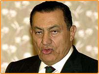 الرئيس المصري حسني مبارك