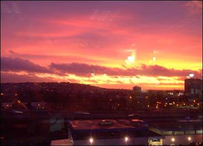 Debbie Evans, from Cwmbran, took this shot of sunrise in Newport