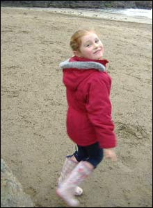 Seren Carter on holiday at Broad Haven Pembrokeshire, in November (Graham Carter)