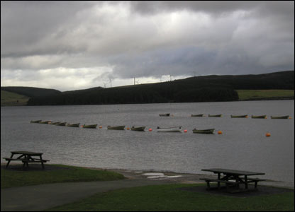Boats at rest on Llyn Brenig (Katharyn Grant, Sheffield)