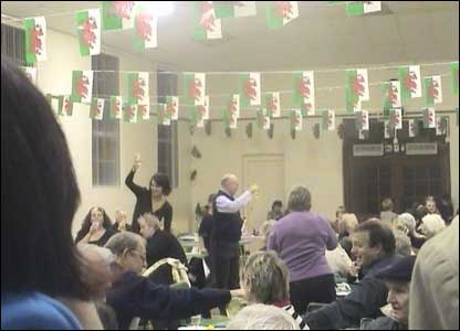 The community party at Llandudoch/St. Dogmaels after winning the Calor Village of the Year competition for 2006