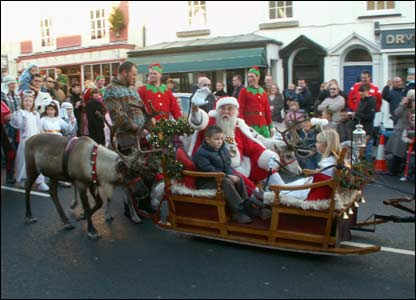 This photo of Santa and his reindeer parade through Cowbridge in the Vale of Glamorgan was taken by seven-year-old Megan