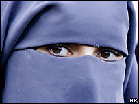 The full veil, or niqab