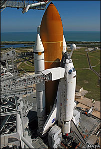 Space shuttle Discovery  Image: Nasa