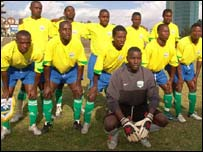 The Rwanda football team