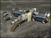 Nasa artist's impression of Moon base