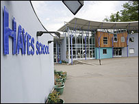 Hayes School entrance in UK