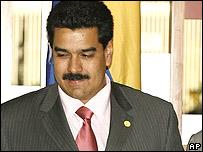 El canciller venezolano, Nicolás Maduro