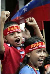 Chavez supporters in Caracas (5 December)
