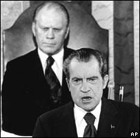 Gerald Ford y Ricard Nixon