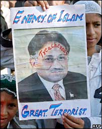 Protests against Gen Musharraf