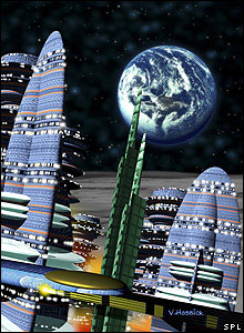 Artist's impression of a lunar city