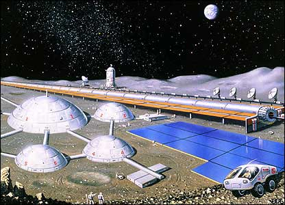 Artist's impression of a lunar settlement