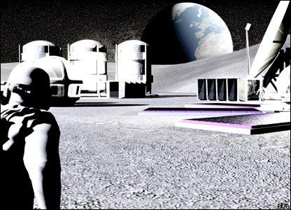 Artist's impression of a lunar settlement