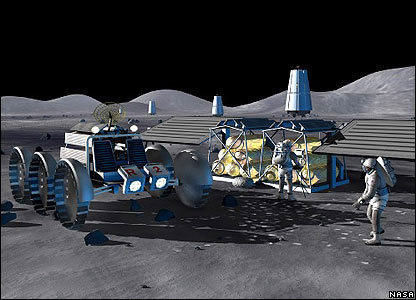 Nasa impression of a lunar settlement