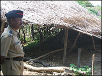 Dalit hut in Khairlanji village which was attacked by an upper caste mob
