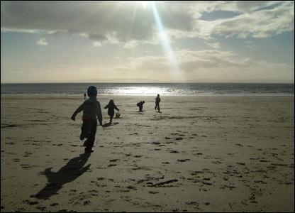 Gafyn Jones took this shot of kids enjoying the blustery Barry beach