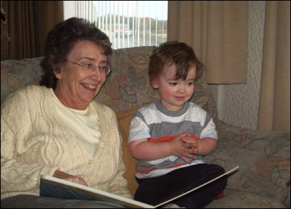 Harry George Fairburn visiting his grandma in Milford Haven