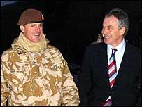 Maj Gen Richard Shirreff with Tony Blair