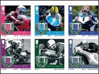 Isle of Man TT centenary stamp set