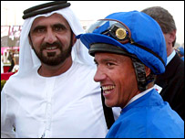 Sheikh Mohammed and Frankie Dettori