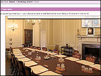 Downing St virtual tour - Cabinet room
