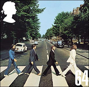 The 64p stamp for Abbey Road