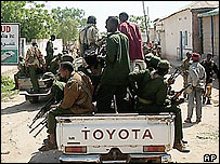 Somali government soldiers