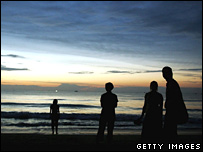 A memorial service for the victims of the 2004 tsunami in Khao Lak, Thailand (file image)