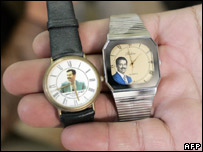 Watches showing images of Saddam Hussein