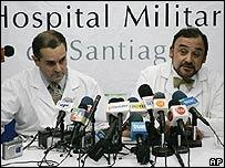 Los m�dicos Juan Ignacio Vergara (izq.) y Rodrigo �guila Garay (der.)
