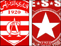 Club Africain (left) and Etoile du Sahel (right)