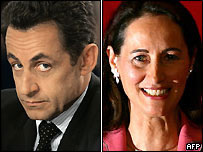 Nicolas Sarkozy and Segolene Royal