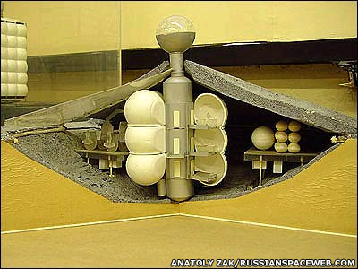 Model of a Soviet Moon base.