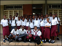 Children from the Loyola Secondary School