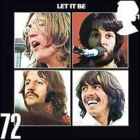 Марка с обложкой альбома Let It Be