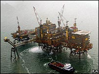 Morecambe field gas platform