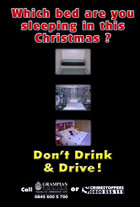 Grampian Police anti-drink drive poster