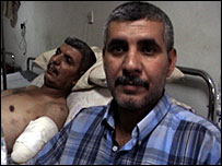 Baghdad car bomb victim and his brother