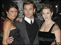 Cameron Diaz, Jude Law and Kate Winslet